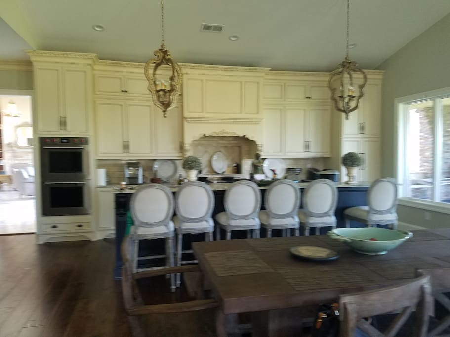 Main kitchen and dining area