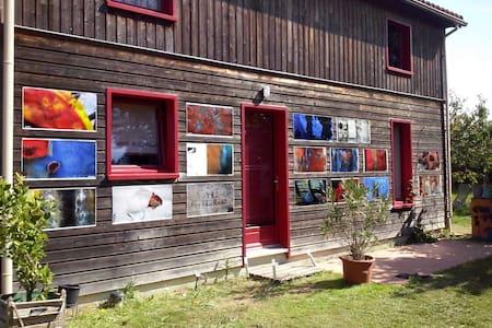 Maison  bois au bord De la Charente - Barro - Haus