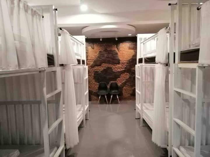 Dorm room near Saturday night market and city tram