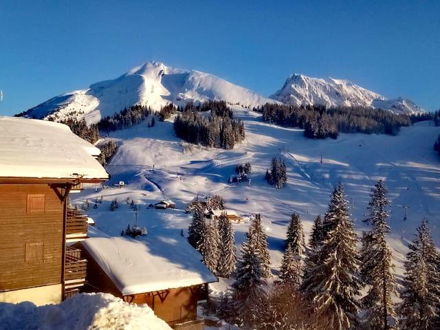 """""""La Belle Etoile"""" Croix Fry/Clusaz vue panoramique"""