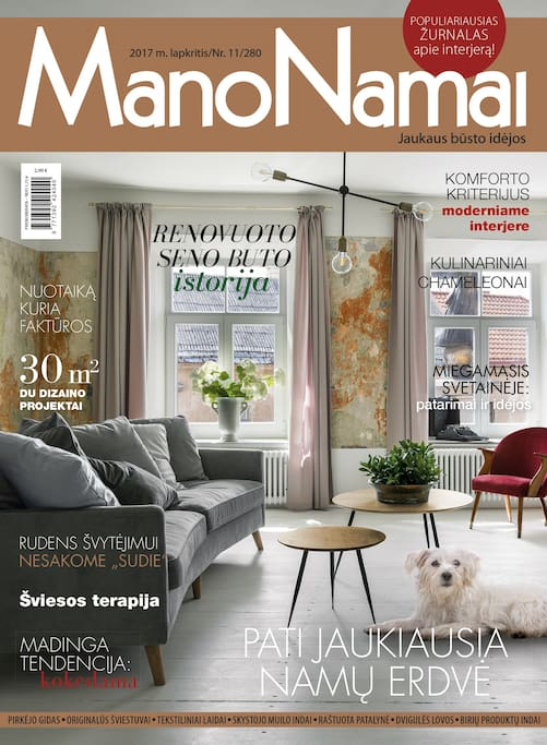 Our apartment on a magazine cover