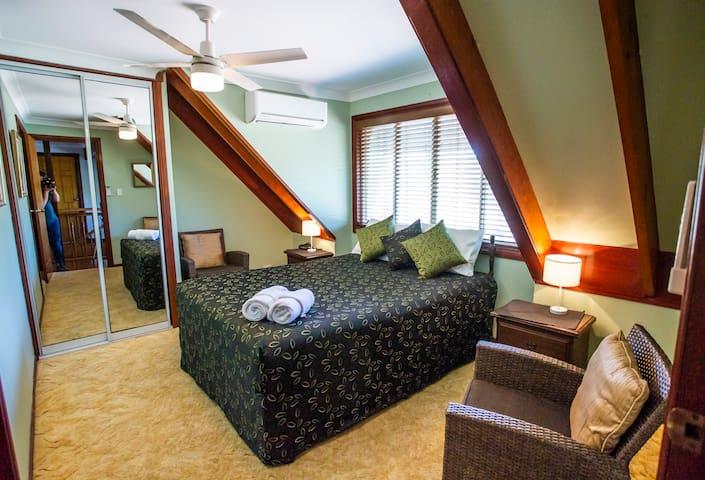 Standard Queen room first floor.