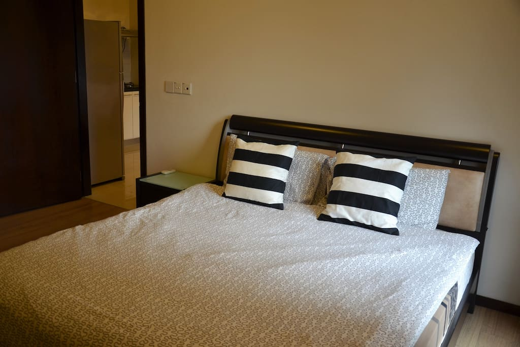 Spacious and comfortable king size bed