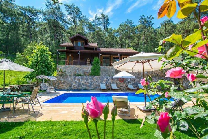 Villa My Dream- orman içinde lüks ahşap villa