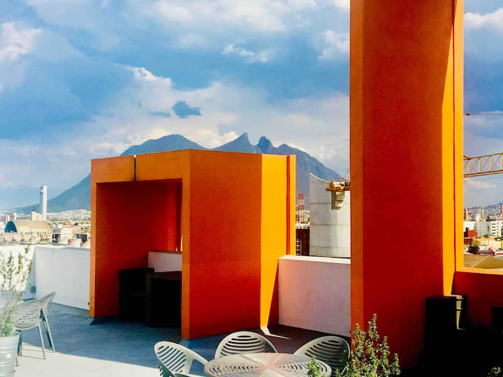 Urban Style building Cozy apartment downtown Mty