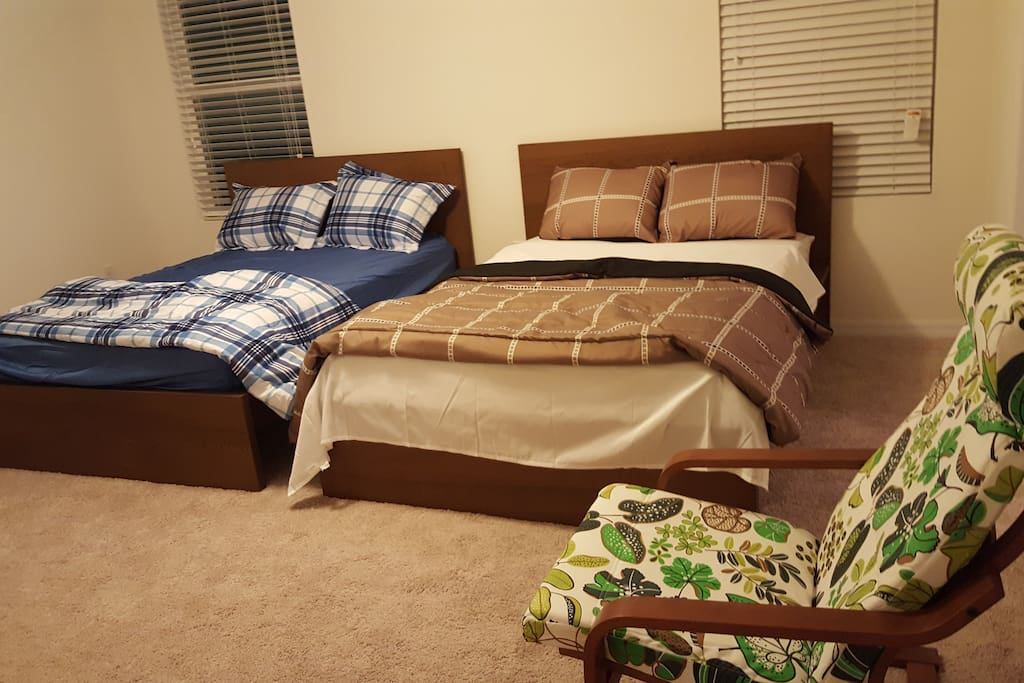 Bedroom with two double beds