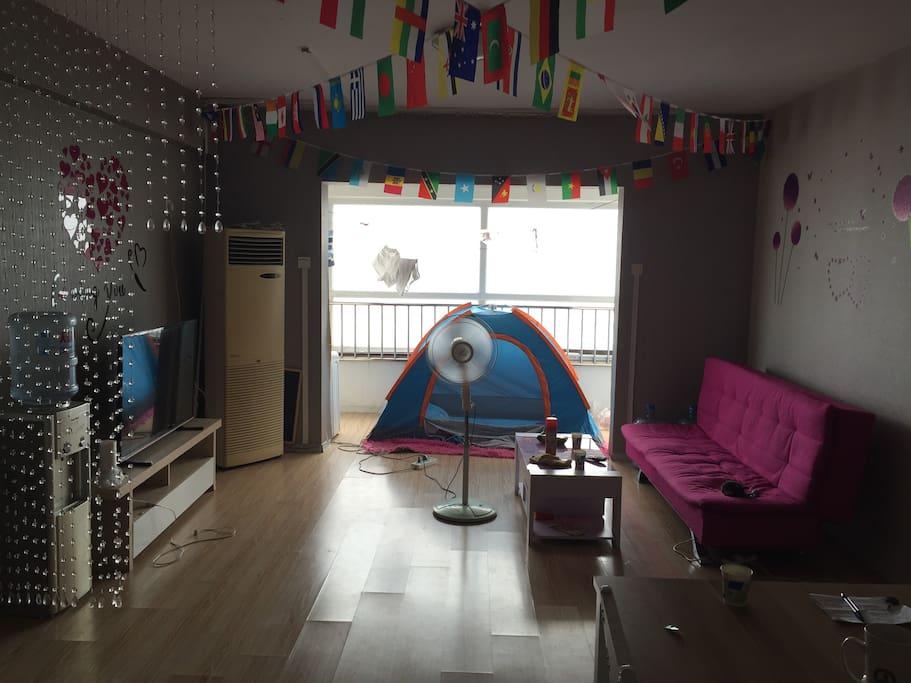 客厅 帐篷房