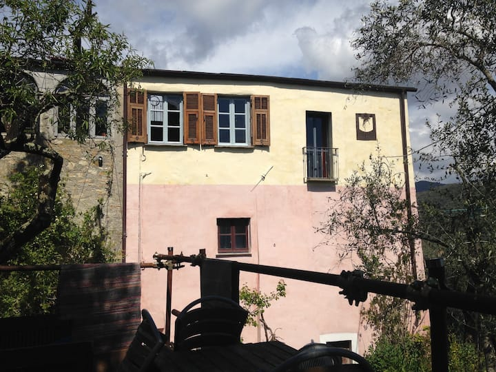 Karakteristiek huis in Dolcedo Imperia