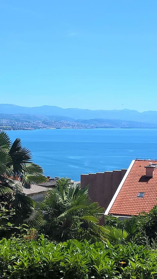 The sea view on the Kvarner bay