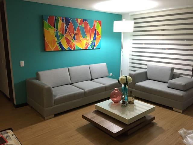 Hermoso apartamento amoblado con dos habitaciones