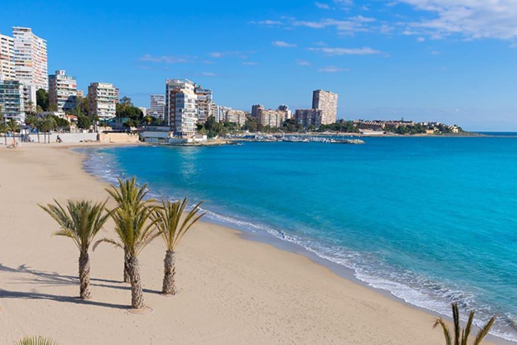 Playa de la Albufera en Alicante.