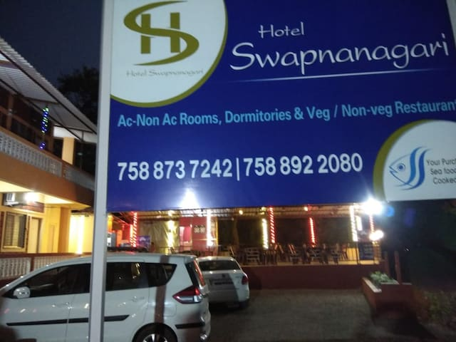 HOTEL SWAPNAGARI IS LOCATED CLOSE TO MURUD BEACH
