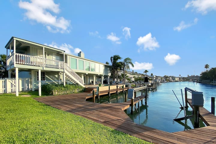 Large Waterfront Haven w/ Private Pool & Boat Dock