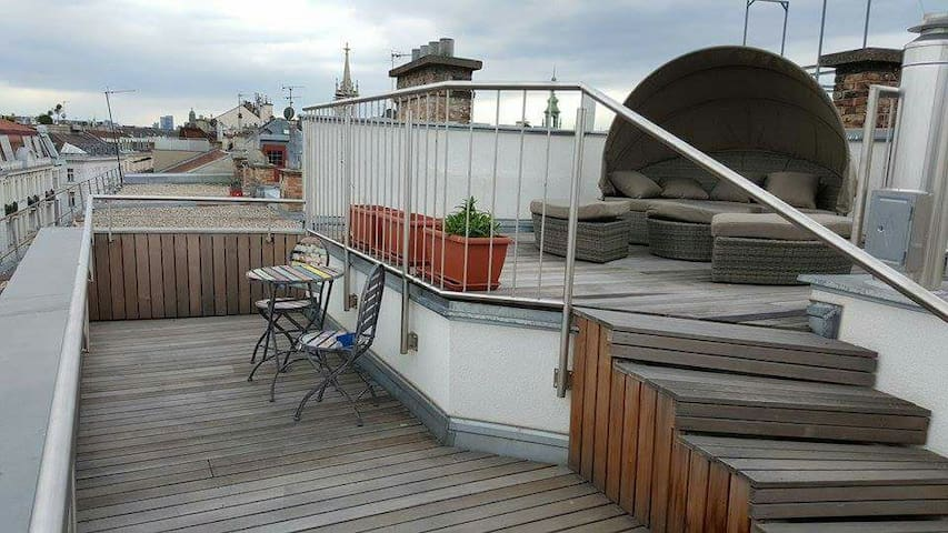 Rooftop terrace apartment in best location. - Vienna - Pis