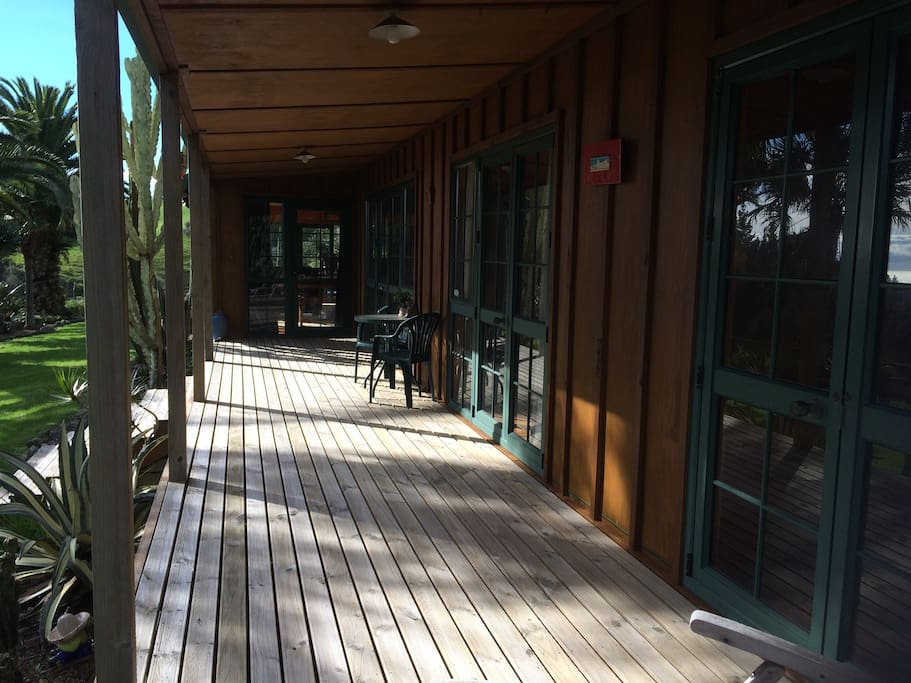 Your private deck at front of house