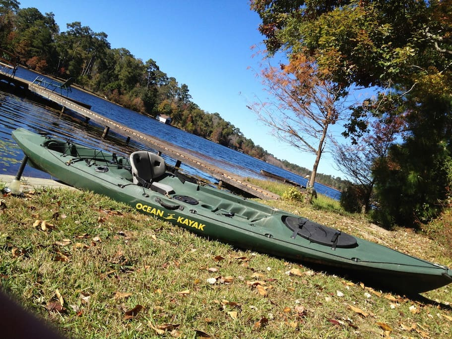 Like to kayak?  We have 4, and a paddleboat