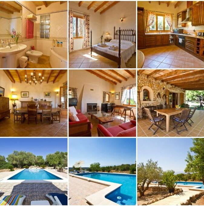 The Finca is lovingly furnished...and has an amazing view over central Mallorca and the Tramontana Mountains....