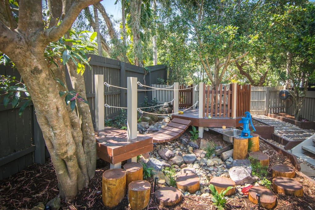 Why not book a holiday house with a kids playground in the backyard!