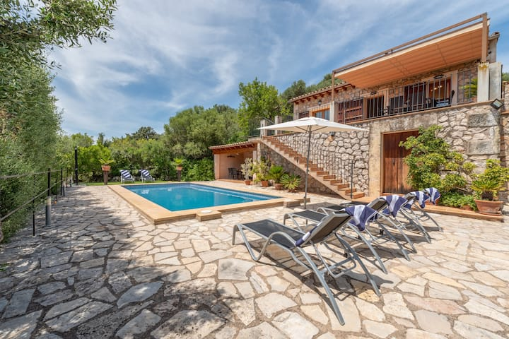 """Mediterranean Finca """"Es Puch"""" with Mountain view, Wi-Fi, Balcony, Garden, Terraces & Pool; Parking Available"""
