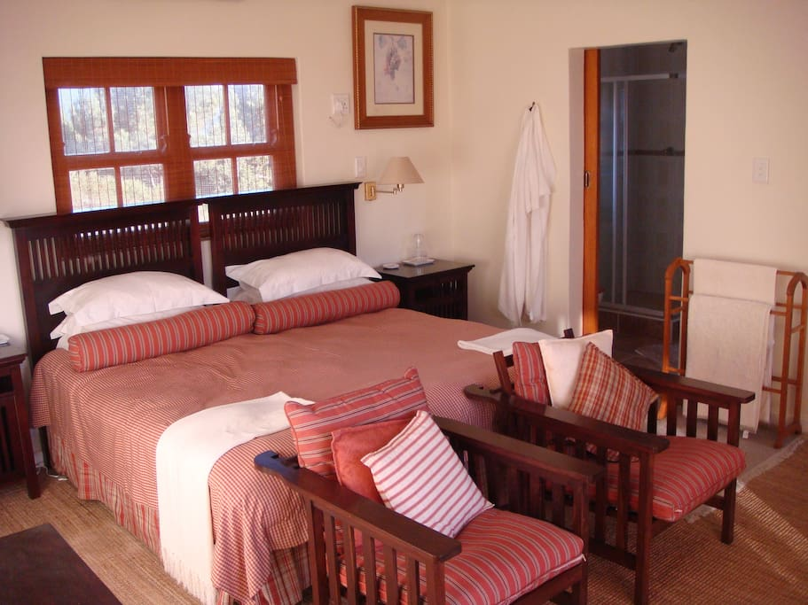 Main Suite - Double King size bed or can be converted to two single beds