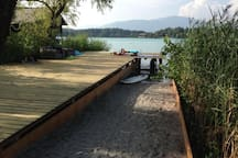 privater Badeplatz am See