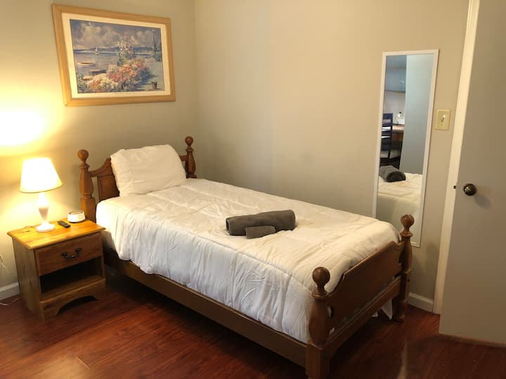 Twin Bedroom B, Shared Bath - South CLT/Pineville