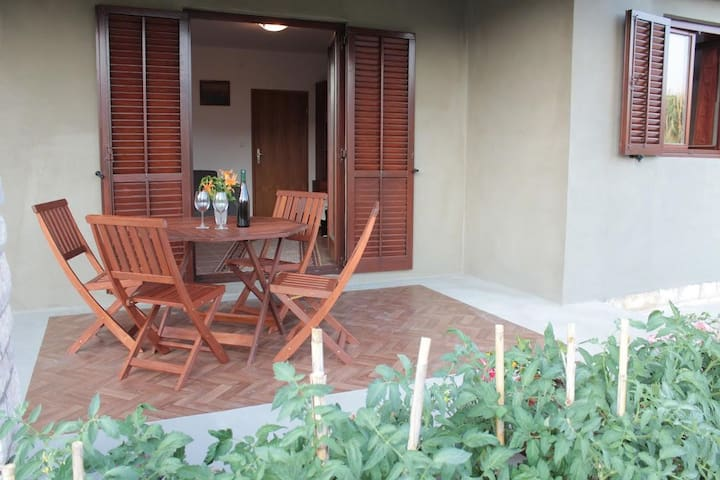 One bedroom apartment with terrace and sea view Pag (A-13251-a)