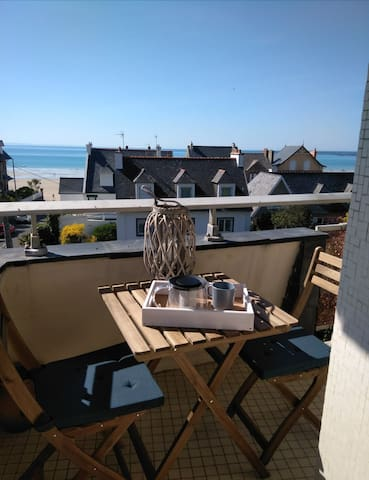 Le Sterne - vue mer plein centre Pléneuf-Val-André