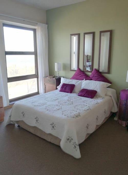 The bedroom en suite.