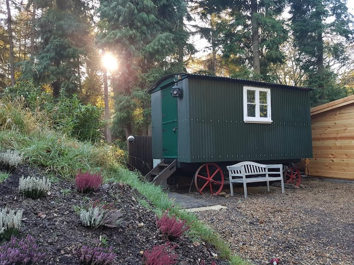 Shepherds Hut with hot tub and BBQ