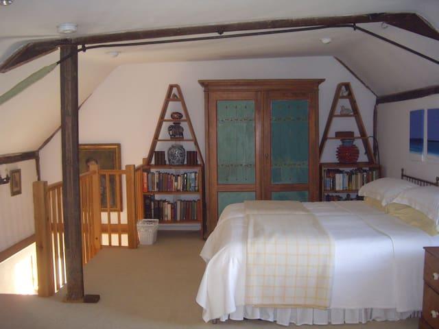 The second bedroom (double or twin) Shares en-suite shower room in main bedroom