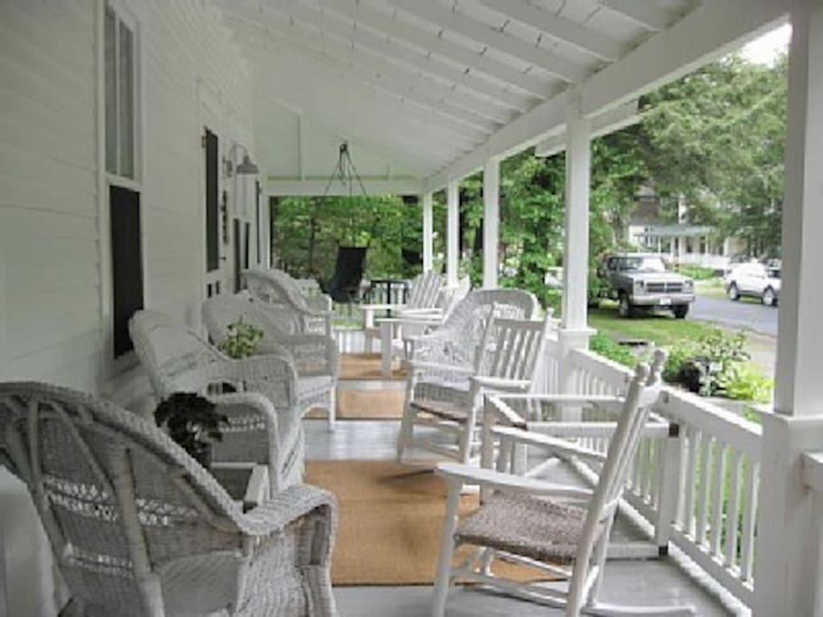 Pinecone front porch