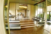 Free weights and cardio equipments