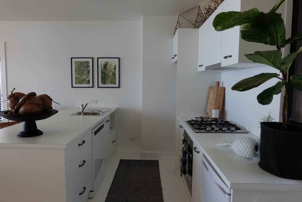Fully equipped, brand new kitchen.