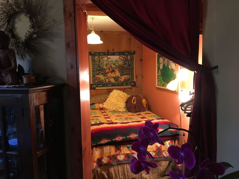 Main floor bedroom with comfortable pillowtop full sized bed.