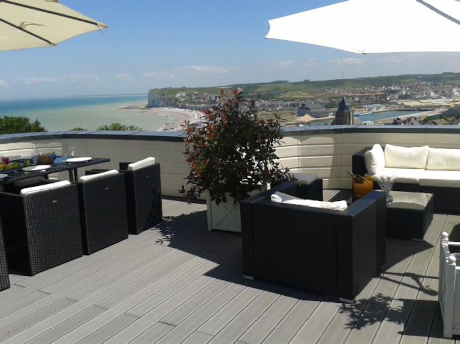 Chambre 4 baln o priv e terrasse vue mer ville - Chambre des notaires haute normandie ...