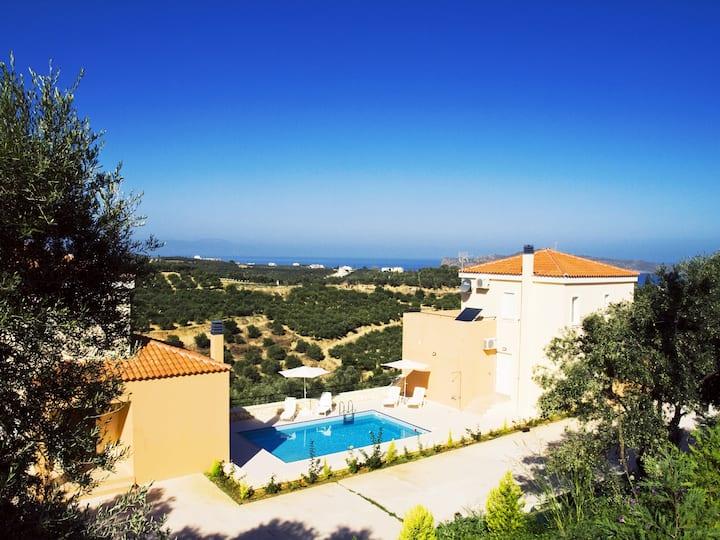Olive Tree Hillside Apartment+shared swimming pool
