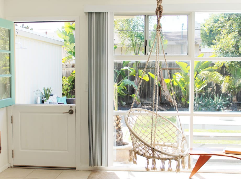 Hanging Chair and Dutch Door - Living Room