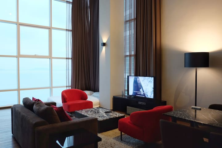 Chill at our classy living area, it's a wonderful place for a short getaway in Penang.