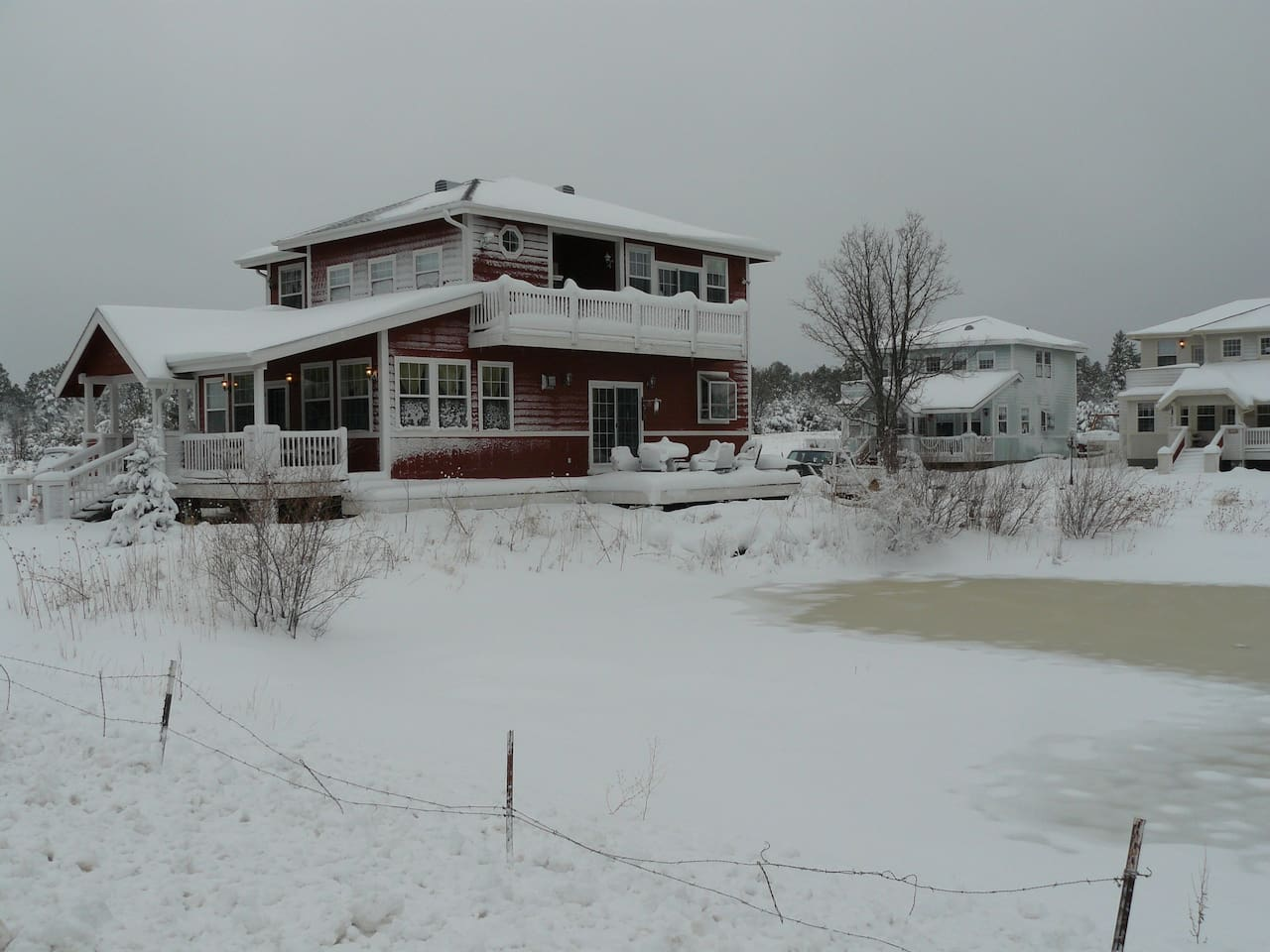 winter time at the cottage