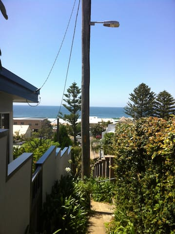 Short stroll to beautiful North Avoca. Pic from the access steps from Tramway Rd.