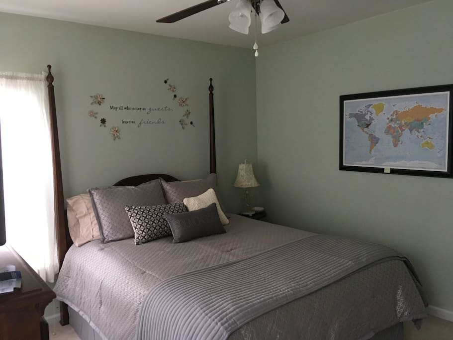Newly updated guest room with super comfy bed!