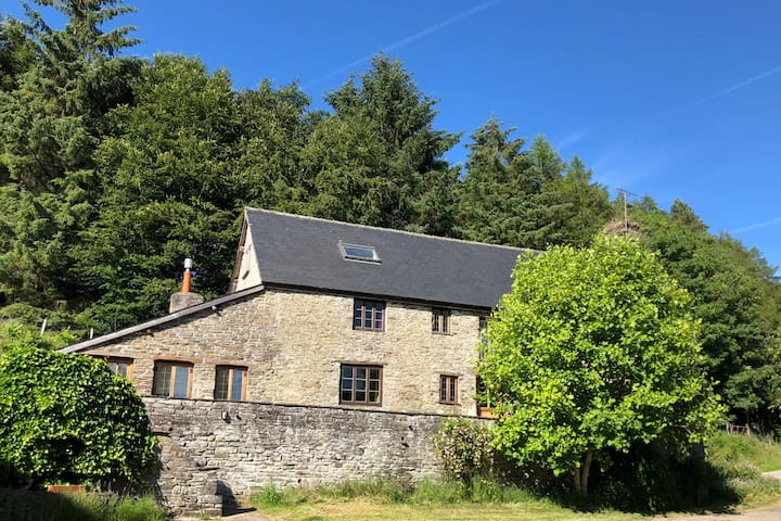 Farmhouse in the hills, Brecon Beacons, Hay-on-Wye