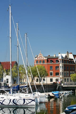 Room with four beds in Stralsund