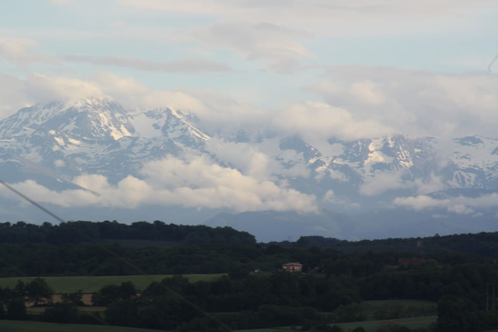 The Pyrenees viewed from the garden.