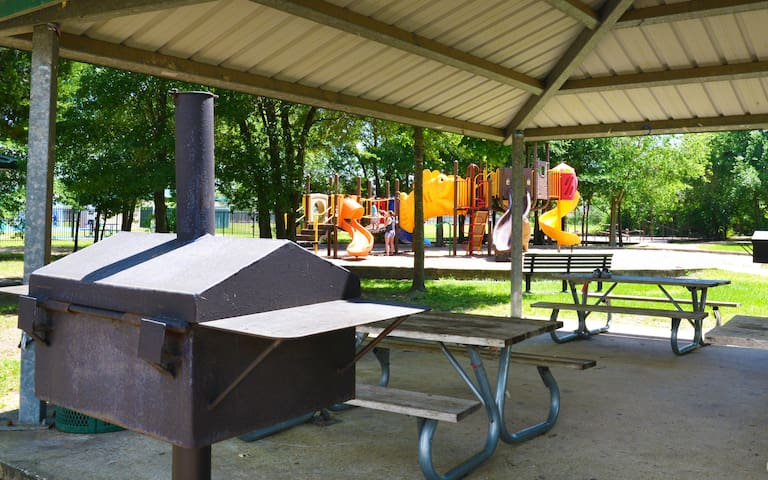 Park with grill and play area