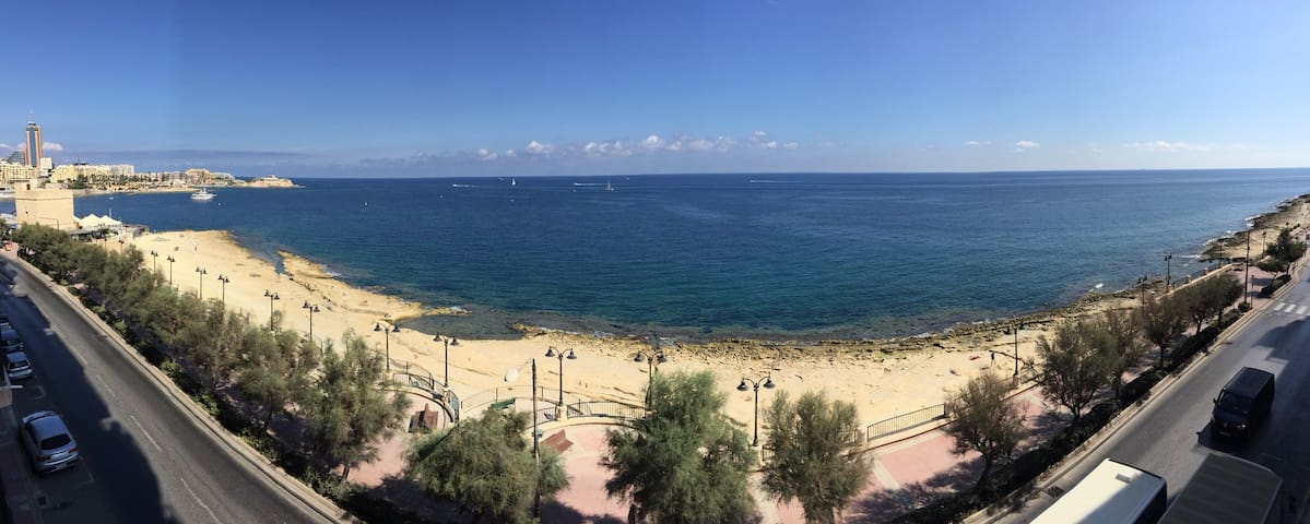 Beautiful view over the Mediterranean Sea