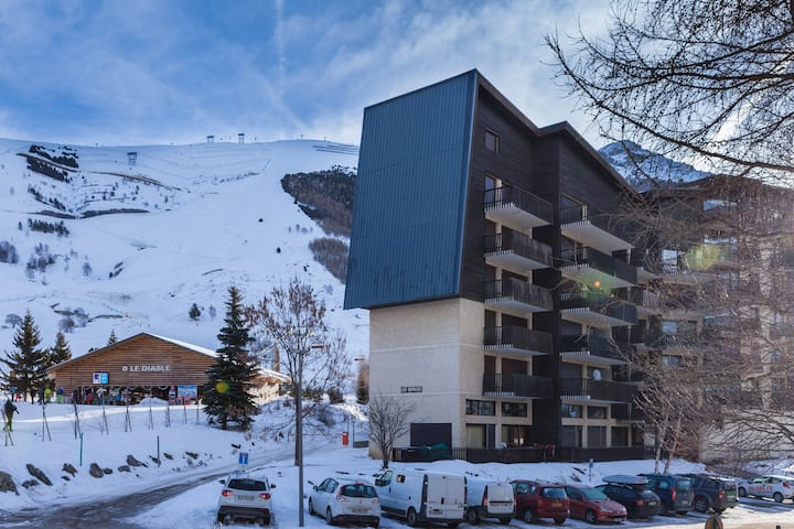 Appartement Abordable à Proximité du Télésiège du Diable | Local à Ski + Parking Privatif