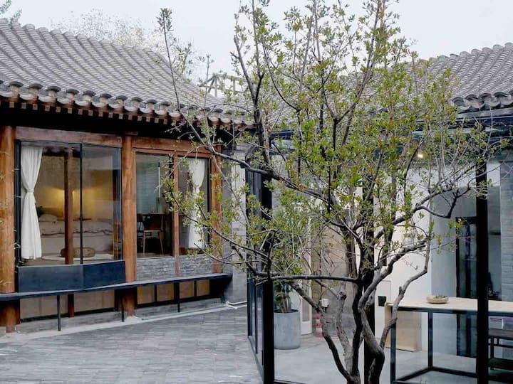 拾念·三条|日和 设计师四合院  50平超大loft双床房 北新桥地铁/簋街