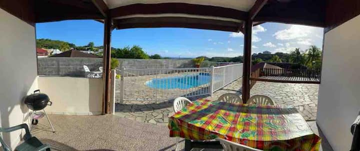 Location villa F3 avec piscine privée